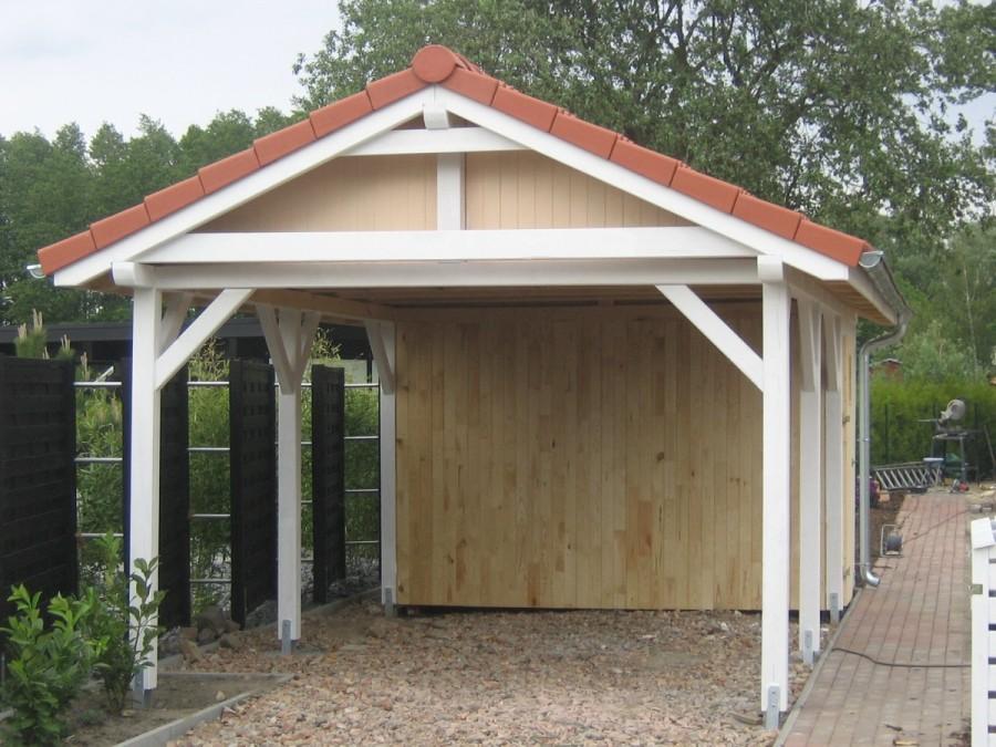 Satteldach holz carport doppelcarport und Überdachung aus polen