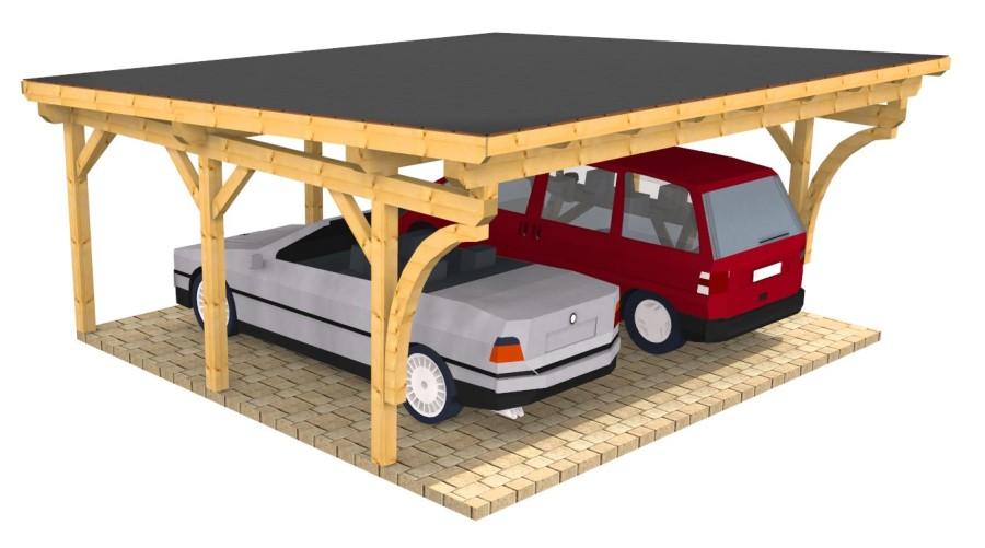 Pultdach holz carport doppelcarport und Überdachung aus polen
