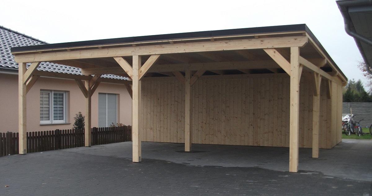 pultdach holz carport doppelcarport und ueberdachung