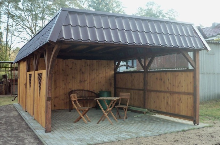klasyczna holz carport doppelcarport und berdachung aus polen. Black Bedroom Furniture Sets. Home Design Ideas