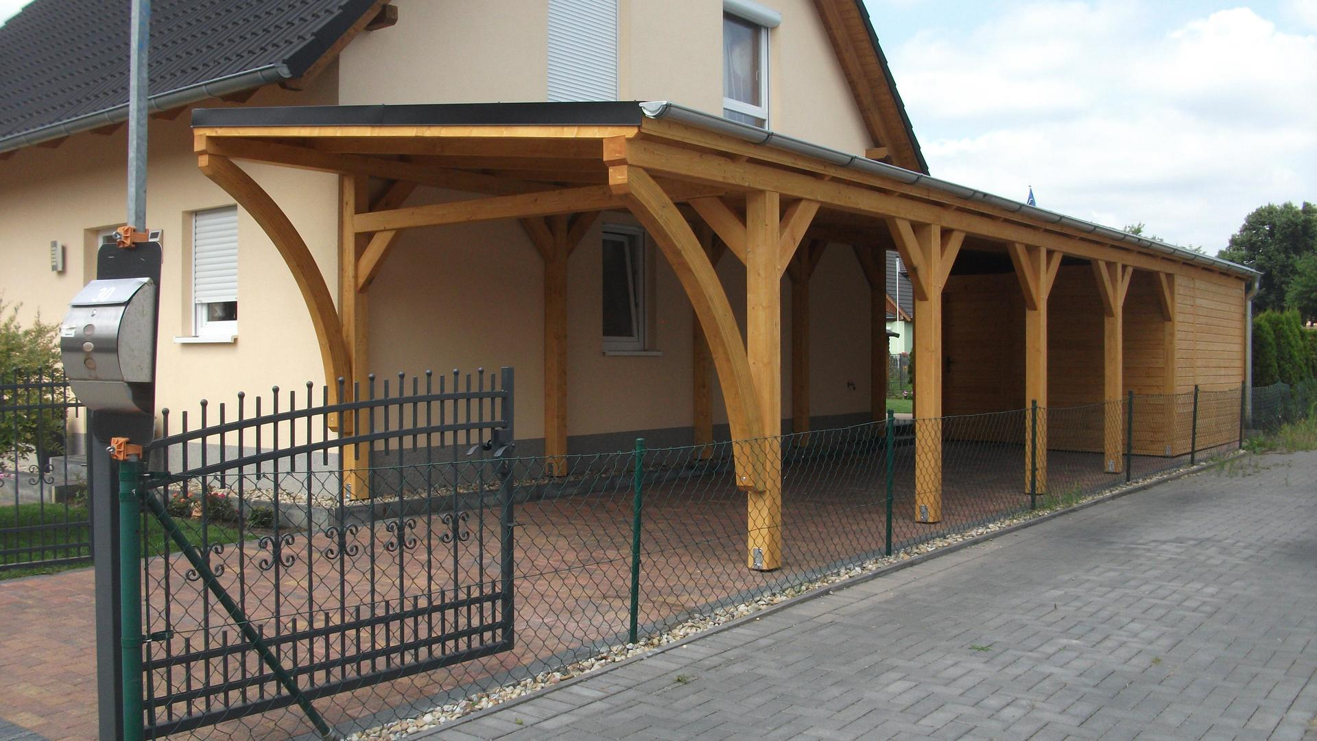 projekte carport aus polen berdachung polnische holzprodukte carport holz. Black Bedroom Furniture Sets. Home Design Ideas